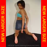 Black girl cuffed in mini-skirt