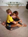 Black Girl Tied Face-to-Face