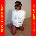 Black Girl Barefoot in Straitjacket