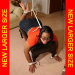 Black girl rope-gagged in heels