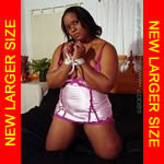 Black girl lingerie spreadeagle