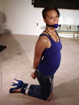 Black Girl Hogtied in Heels
