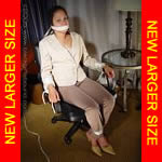 Black girl chair-tied and gagged