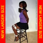 Black Girl Tied & Gagged in Heels