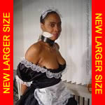 Black french bondage maid